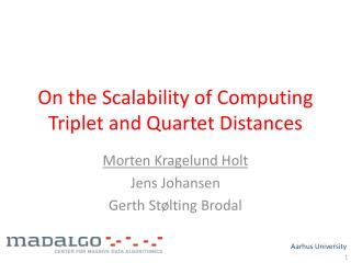 On the Scalability of Computing Triplet and Quartet Distances