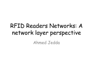 RFID Readers Networks: A network layer perspective