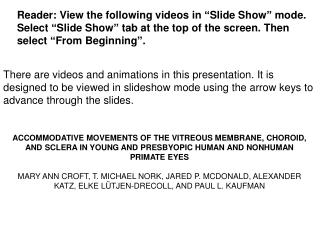 "Reader: View the following videos in ""Slide Show"" mode."