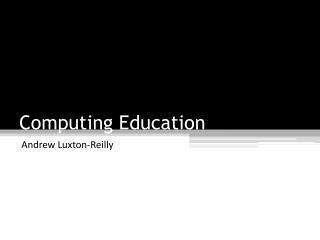 Computing Education