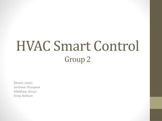 HVAC Smart Control Group 2