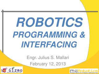 robotics PROGRAMMING & INTERFACING