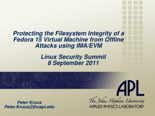 Linux Security Summit  8 September 2011
