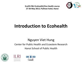 Introduction to Ecohealth