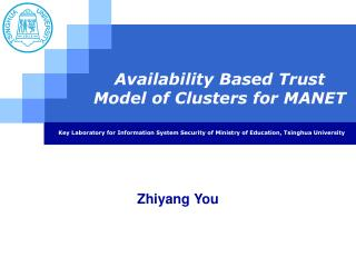 Availability Based Trust  Model of Clusters for MANET