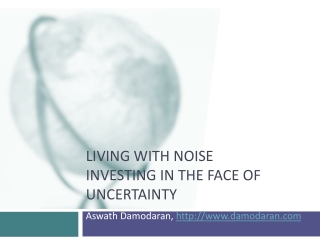 Living with Noise Investing in the face of uncertainty