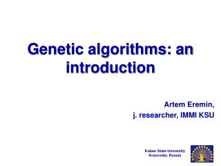 Genetic algorithms: an introduction