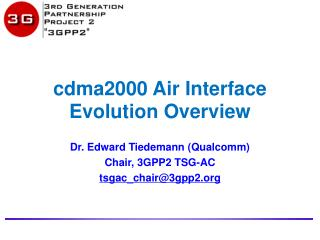 cdma2000 Air Interface Evolution Overview
