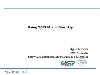 Using SCRUM in a Start-Up