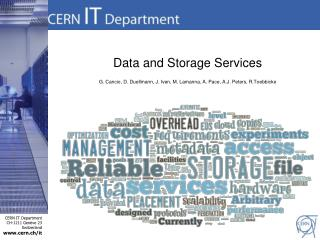 Data and Storage Services