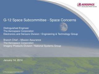 G-12 Space Subcommittee - Space Concerns