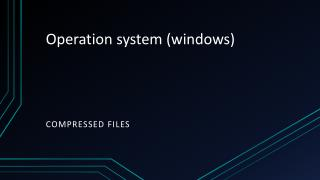 Operation system (windows)