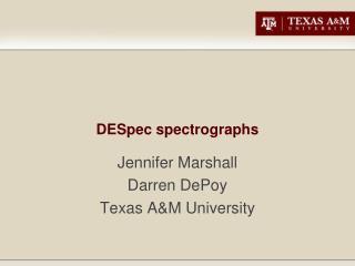DESpec spectrographs