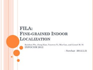 FILA:  Fine-grained Indoor Localization