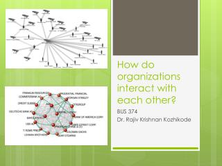 How  do  organizations interact with each  other?