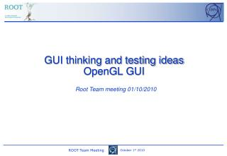 GUI thinking and testing ideas OpenGL GUI