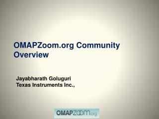 OMAPZoom Community Overview