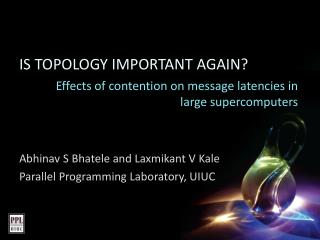 Effects of contention on message latencies in large supercomputers