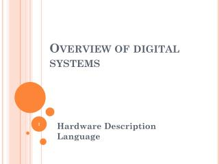 Overview of digital systems