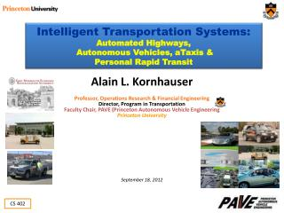 Intelligent Transportation Systems: Automated Highways,  Autonomous Vehicles, aTaxis &