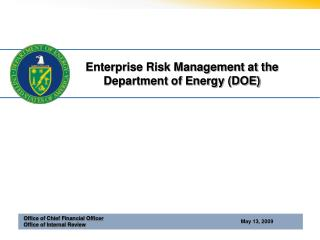 Enterprise Risk Management at the Department of Energy (DOE)