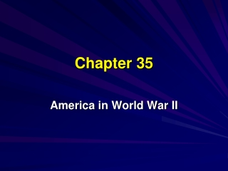 AMERICA IN WORLD WAR II