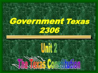 Government Texas 2306