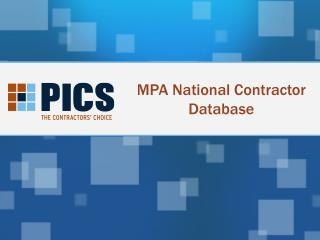 MPA National Contractor Database