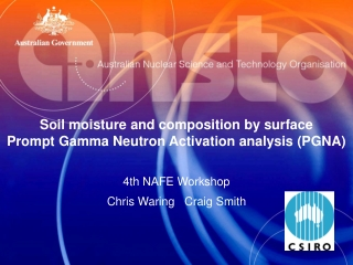 Soil moisture and composition by surface Prompt Gamma Neutron Activation analysis (PGNA)