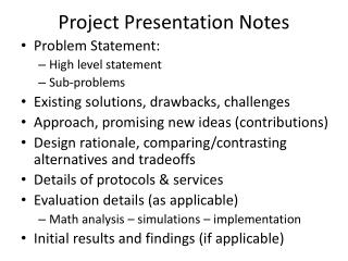 Project Presentation Notes