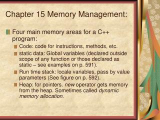 Chapter 15 Memory Management: