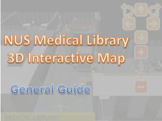 NUS Medical Library 3D Interactive Map