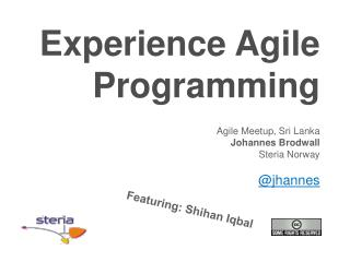 Experience  Agile  Programming