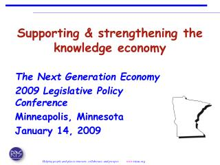 Supporting & strengthening the knowledge economy