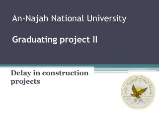 An-Najah National University Graduating project II