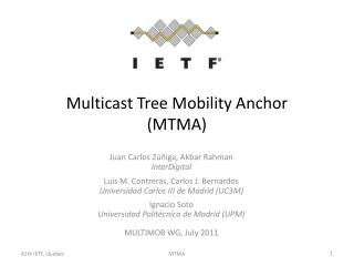 Multicast Tree Mobility Anchor (MTMA)