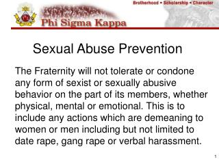Sexual Abuse Prevention