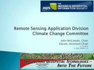Remote Sensing Application Division Climate Change  Committee