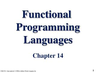 Functional  Programming Languages Chapter 14