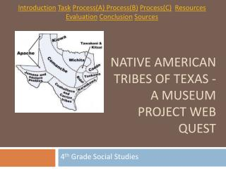 Native American Tribes of Texas - A Museum Project Web quest