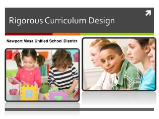 Rigorous Curriculum Design
