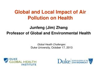 Global and Local Impact of Air Pollution on Health
