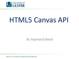 HTML5 Canvas API