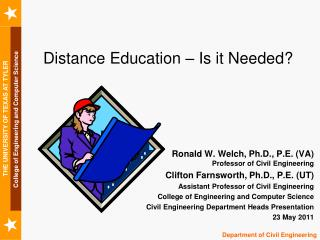 Distance Education – Is it Needed?