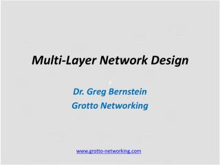 Multi-Layer Network Design