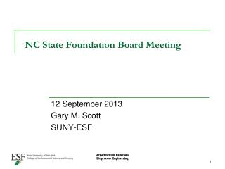 NC State Foundation Board Meeting