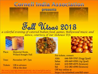 Cornell India Association presents