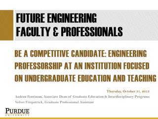FUTURE ENGINEERING  FACULTY & PROFESSIONALS
