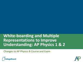 White-boarding and Multiple Representations to Improve Understanding: AP Physics 1 & 2