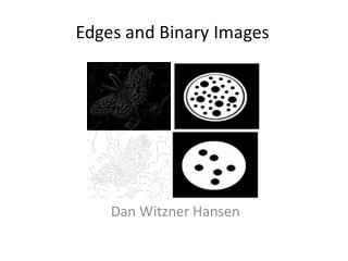 Edges and Binary Images